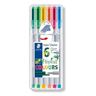 Staedtler Triplus Fineliner Kalem 0.3mm 6 TROPICAL COLOURS PLASTİK KUTULU SET